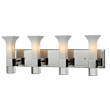 Z-Lite Lotus 4-Light Vanity Light; Chrome