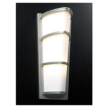 PLC Lighting Alegria 2-Light Outdoor Flush Mount; Silver