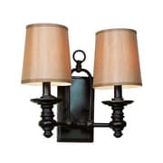 TransGlobe Lighting Modern Meets Traditional 2-Light Wall Sconce