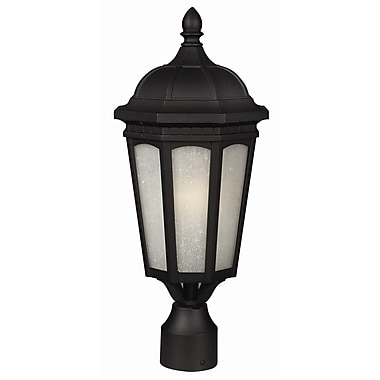 Z-Lite Newport 1-Light Lantern Head; Black