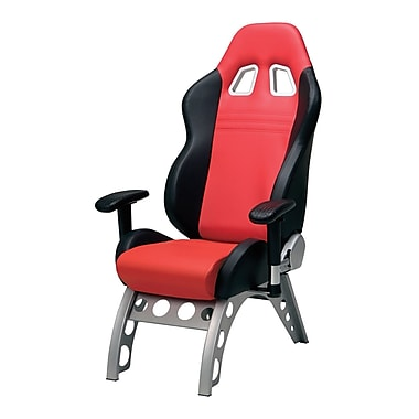 Pit Stop Furniture GT Receiver High-Back Executive Chair; Red