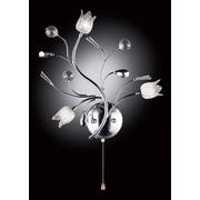 OK Lighting Lily Crystal 3-Light Wall Sconce