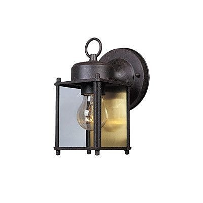 Designers Fountain Budget Cast Aluminum 1-Light Outdoor Wall Lantern; Rust Patina