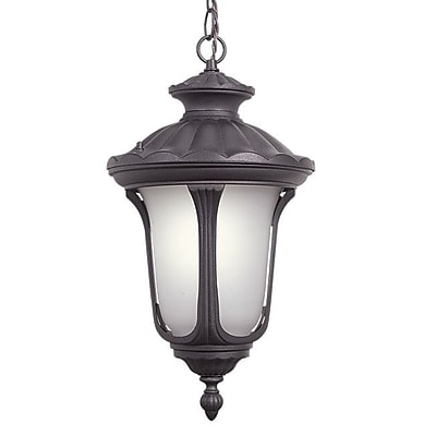 Woodbridge Westbrook 1-Light Outdoor Pendant; Powder Coat Rust