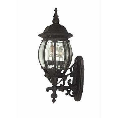 Woodbridge Basic 3-Light Outdoor Sconce; Powder Coat Black