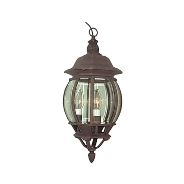 Woodbridge Basic 3-Light Outdoor Hanging Lantern; Powder Coat Rust