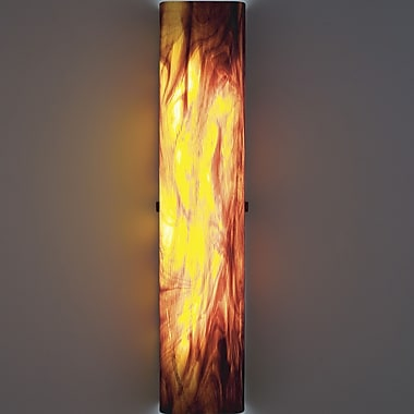 WPT Design Channel 2-Light Slender Glass Wall Sconce; White