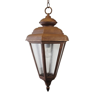 Melissa 1500 Series 1-Light Outdoor Hanging Lantern; Rusty Nail