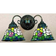 Meyda Tiffany Victorian Tiffany Rosebush 2 Light Wall Sconce