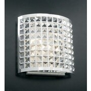 PLC Lighting Jewel 2-Light Wall Sconce; 12'' H x 12'' W x 4.5'' D