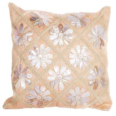 Debage Inc. Sea Side Flower Shells Throw Pillow