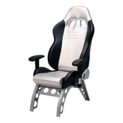 Pit Stop Furniture GT Receiver High-Back Executive Chair; Silver