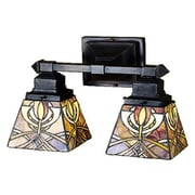 Meyda Tiffany Glasgow Bungalow 2 Light Wall Sconce