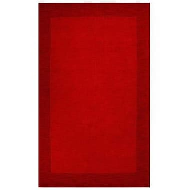 Acura Rugs Loom Red/Dark Red Rug; 5' x 8'