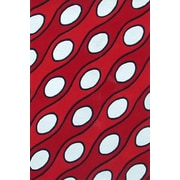 Acura Rugs Modern Curve Red/White Area Rug; 5' x 8'