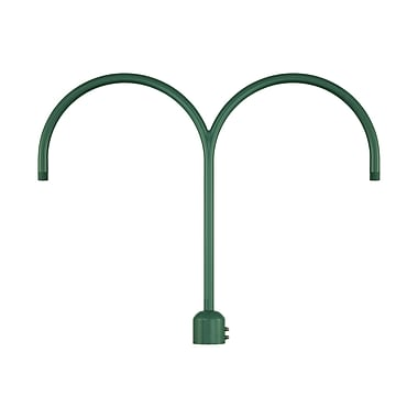Millennium Lighting R Series Double Post Adapter; Satin Green