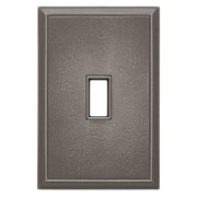 RQ Home Classic Magnetic Single Toggle Wall Plate; Classic Nickel Silver