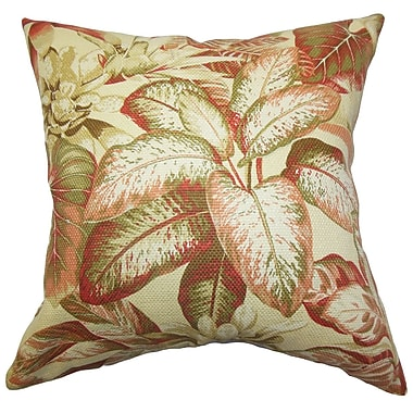 The Pillow Collection Adlai Floral Cotton Throw Pillow; 20'' x 20''