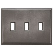 RQ Home Classic Magnetic Triple Toggle Wall Plate; Classic Nickel Silver