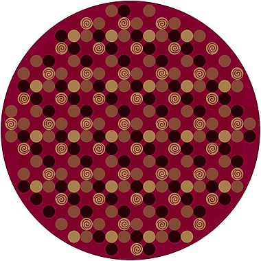 Milliken Innovation Da T Da Cherry Area Rug; Round 7'7''