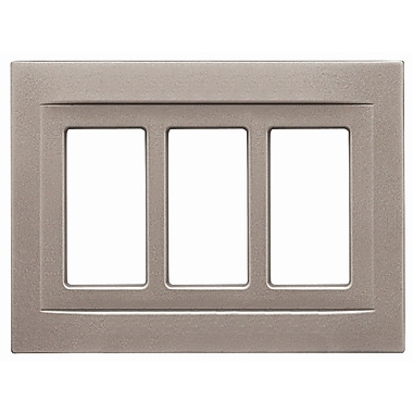 RQ Home Triple GFCI Magnetic Wall Plate; Brushed Nickel