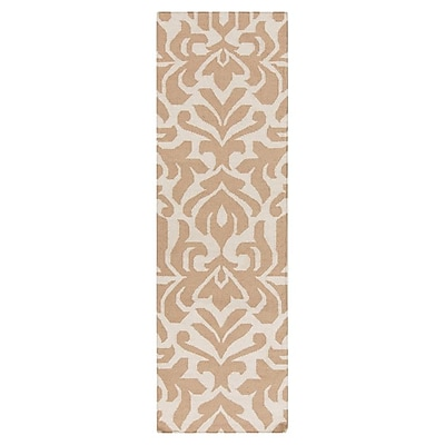 Candice Olson Market Place Praline White & Brown Area Rug; Runner 2'6'' x 8'
