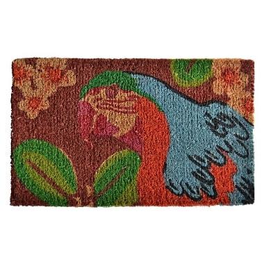 Imports Decor Creel Bahama Parrot Doormat; 30'' x 18''