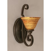 Toltec Lighting Elegante 1-Light Armed Sconce