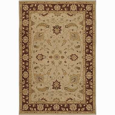 Chandra Pooja Persian Brown/Tan Area Rug; 5' x 7'6''