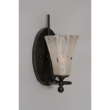 Toltec Lighting Capri 1-Light Wall Sconce; Frosted