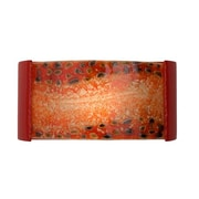 A19 ReFusion Ebb and Flow 1-Light Wall Sconce; Matador Red and Multi Fire