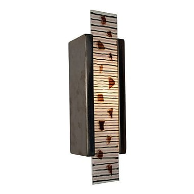 A19 ReFusion Zen Garden 1-Light Wall Sconce; Gunmetal and Multi Rosewood