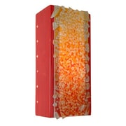 A19 ReFusion Rocky 1-Light Wall Sconce; Matador Red and Multi Fire