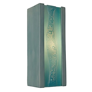 A19 ReFusion Bubbly 1-Light Wall Sconce; Teal Crackle and Turquoise