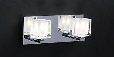 PLC Lighting Glacier 2-Light Vanity Light