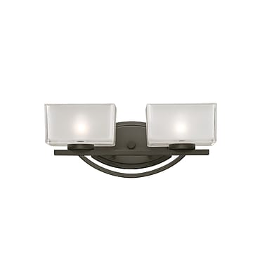 Z-Lite Cardine 2-Light Vanity Light; Painted Bronze