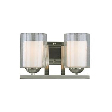 Woodbridge Cosmo 2-Light Vanity Light; Satin Nickel
