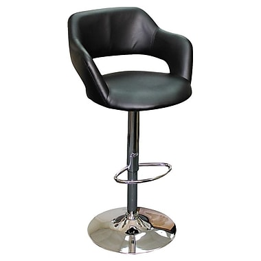Creative Images International Adjustable Height Bar Stool; Black