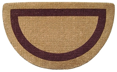 Nedia Home Single Picture Frame Doormat; Brown