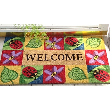 Nedia Home SuperScraper Ladybug Welcome Doormat