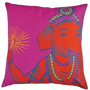 Koko Company Bazaar Throw Pillow; Fuchsia