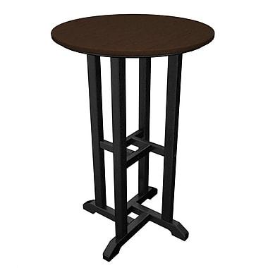 POLYWOOD Contempo Bar Table; Black & Mahogany