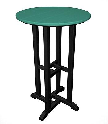 POLYWOOD Contempo Bar Table; Black & Aruba