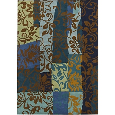 Chandra Gagan Blue Area Rug; 5' x 7'