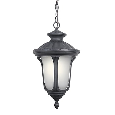Woodbridge Westbrook 1-Light Outdoor Pendant; Powder Coat Black