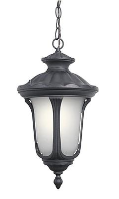 Woodbridge Westbrook 1-Light Outdoor Pendant; Powder Coat Black