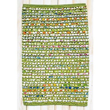 CLM Staccato Green Area Rug; Rectangle 2'6'' x 4'2''