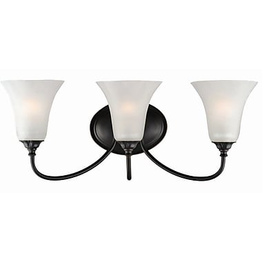 Design House Hyde 3-Light Vanity Light; Oil Rubbed Bronze