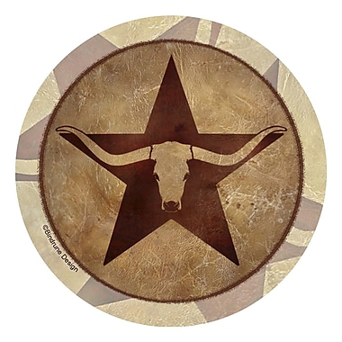 Thirstystone Western Star Longhorn Occasions Coaster (Set of 4)