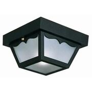 Design House 2-Light Flush Mount; Black Polypropylene